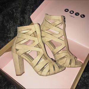 Charlotte Russe Nude (Beige) Platform Heels!!!